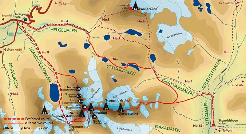 store skagastølstind kart Scandinavian Mountains   Hurrungane   Storen or Store Skagastølstind store skagastølstind kart