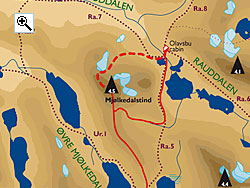 Mj�lkedalstind full size map